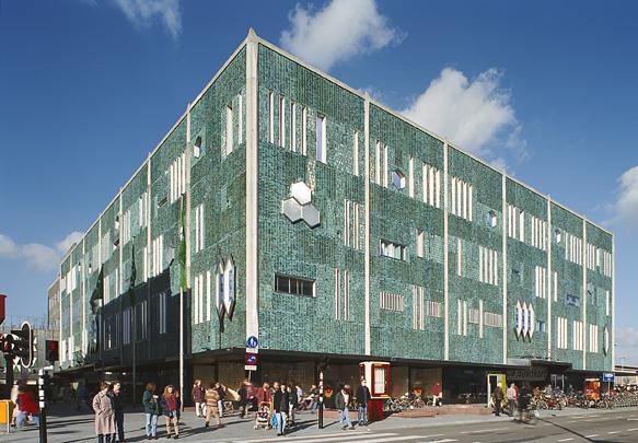 Warenhuis De Bijenkorf Eindhoven / Department Store De Bijenkorf Eindhoven ( G. Ponti, Th.H.A. Boosten )