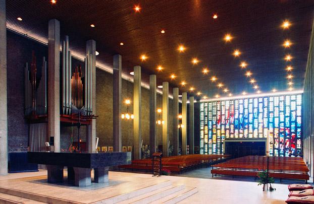 RK kerk Sint Dominicus Rotterdam / Roman Catholic Church Rotterdam (Sint Dominicus) ( E.H.A. & H.M.J.H. Kraaijvanger )